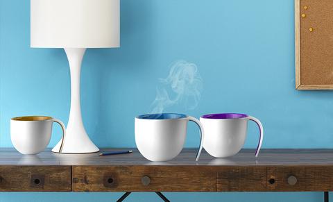 Кружка Asobu The porcelain jewel (0,4 литра), фиолетовая