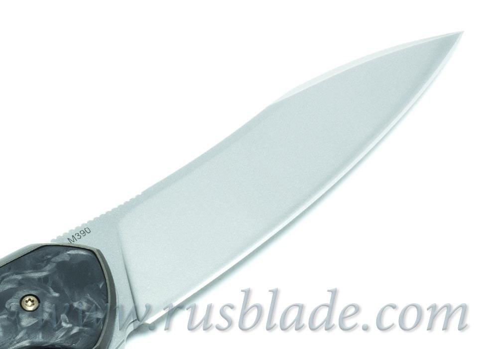 Cheburkov Russkiy M390 CF folding knife - фотография