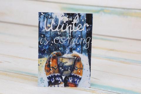 Открытка Зима