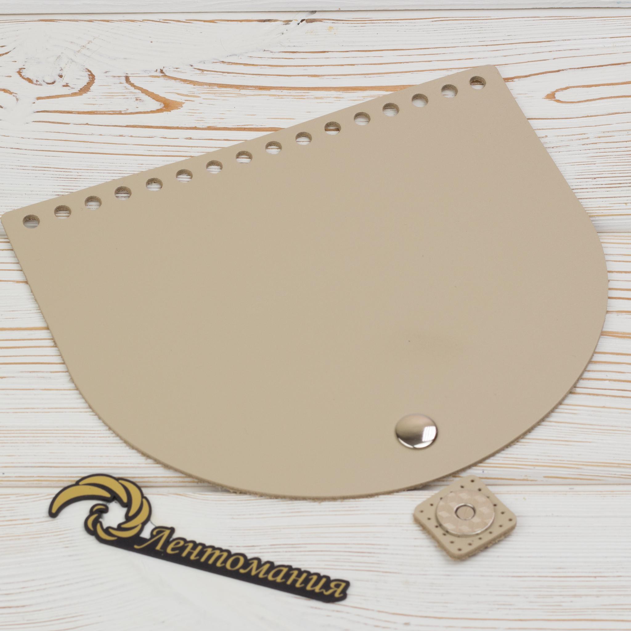 """Клапаны для сумки Клапан для сумочки кожаный с магнитной застежкой """"Кремовый"""" IMG_4144.JPG"""