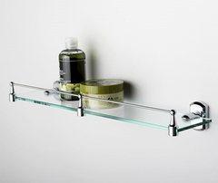 Полка в ванную WasserKRAFT Oder K-3044 стеклянная с бортиком