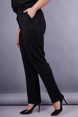 Элия д/ф. Классические батальные женские брюки . Черный.