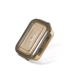 Контейнер с пластиковой крышкой 14x10x4см / 370мл (стекло)
