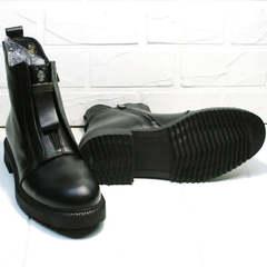 Женские демисезонные ботинки с грубой подошвой Tina Shoes 292-01 Black.