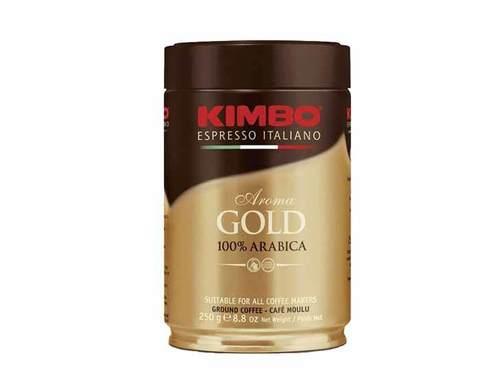 Кофе молотый Kimbo Gold Arabica, 250 г в жестяной банке