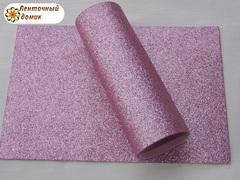 Фоамиран с блестками розовый 2мм