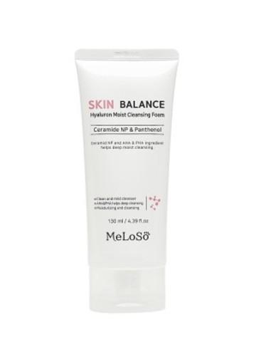 MeLoSo skin balance hyaluron moist cleansing foam