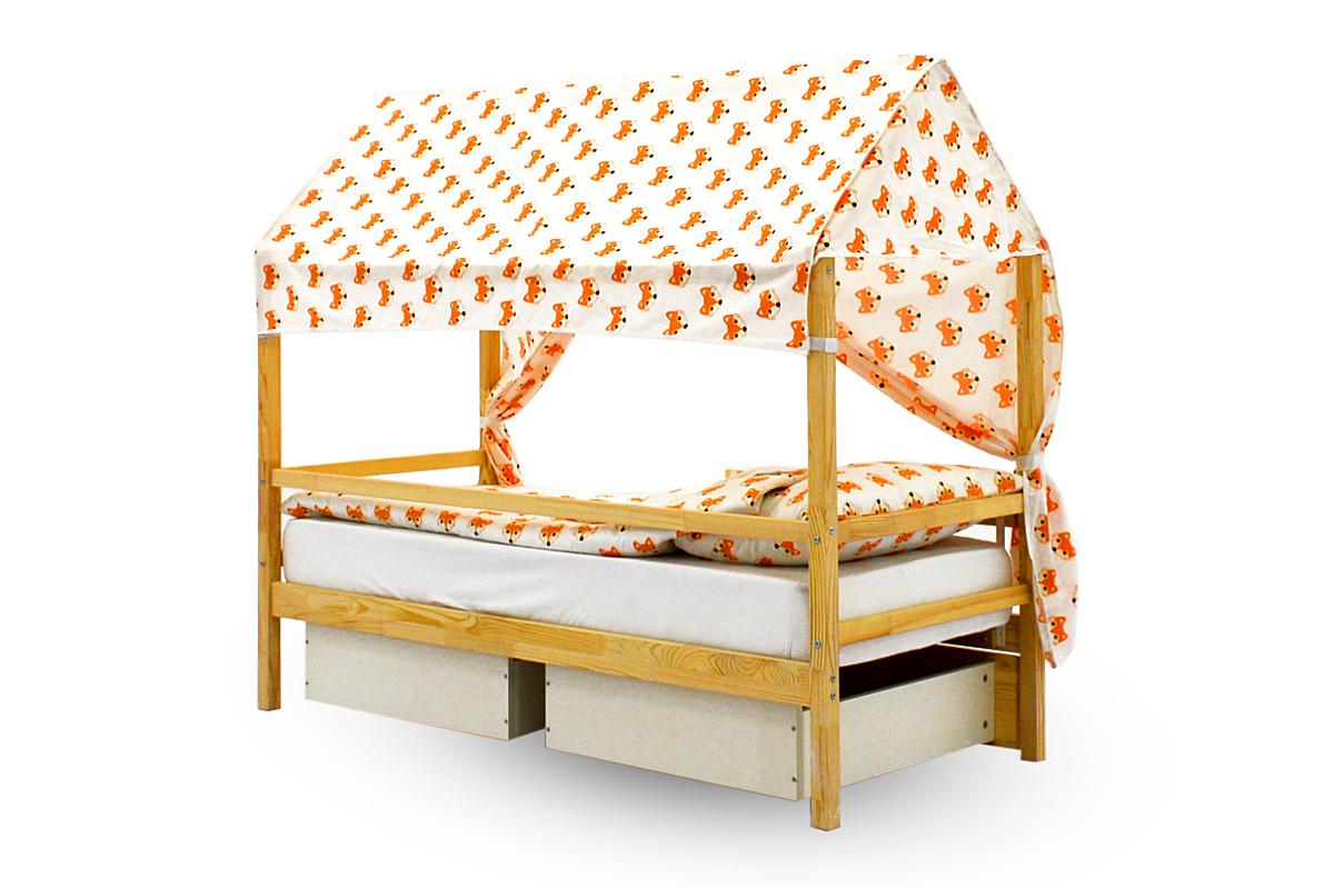 """Крыша текстильная для кровати-домика Svogen """"лисички"""""""