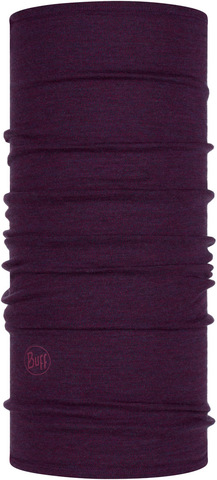 Шерстяной шарф-труба Buff Wool midweight Purplish Melange фото 1