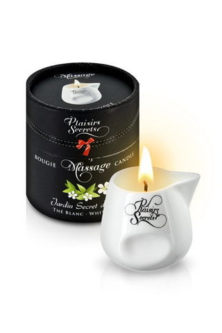 MASSAGE CANDLE WHITE TEA 80ML Свеча с массажным маслом Белый чай 80 мл