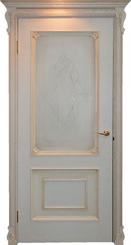 Дверь Гранд Модерн Авелана (светлое дерево, остекленная, массив хвойных пород)