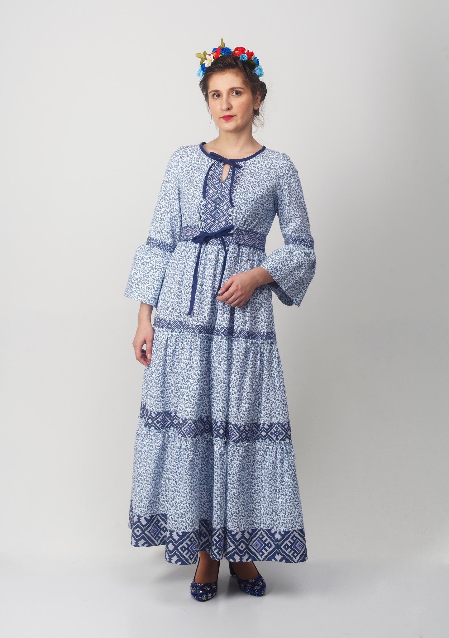 Платье Времена года Зима полный рост