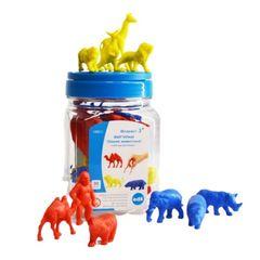 Счетный материал фигурки Дикие животные (контейнер), Edx education