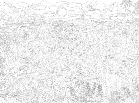 «Динозавры: путешествие в мир Юрского периода», гигантская раскраска-плакат формат А1