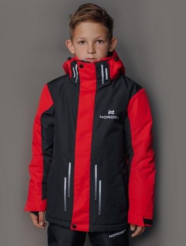 Горнолыжная куртка Nordski Jr.Extreme black/red подростковая
