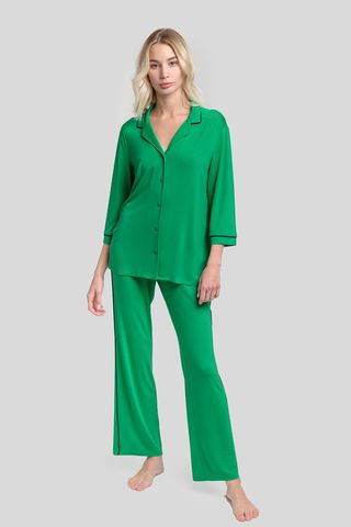 Пижама с брюками зелёный (51922L) Laete