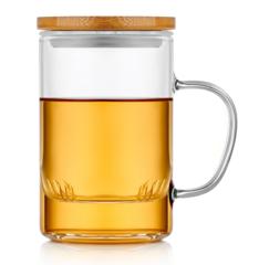 Кружка заварник для чая 400 мл, стеклянная со стеклянной колбой, фильтром