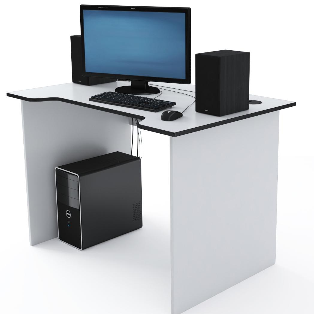 Стол Компьютерный Jedi 1100 Белый/Черный