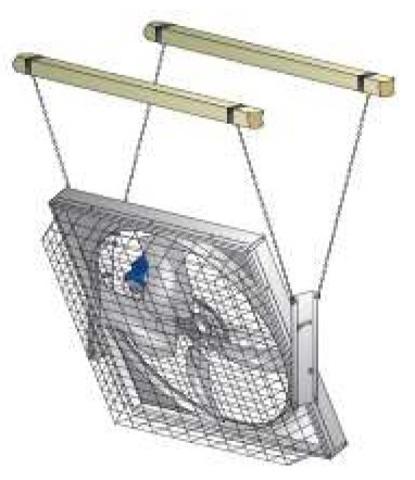 MFS36 | Набор для подвеса вентилятора для коровников и ферм