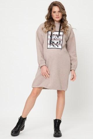 Утепленное платье для беременных 12103 какао