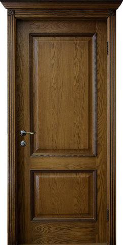 Дверь Гранд Модерн Шервуд (темное дерево, глухая, массив хвойных пород)