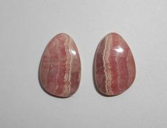 Родохрозит 18 x 12 мм кабошон, пара