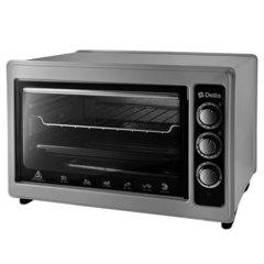 Мини печь | Духовка электрическая 1300 Вт 37 л DELTA D-0124 с грилем, серая