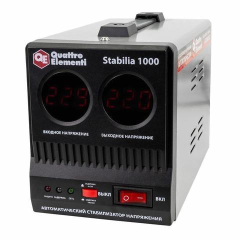 Стабилизатор напряжения QUATTRO ELEMENTI Stabilia  1000 (1000 ВА, 140-270 В, 2,7 кг)