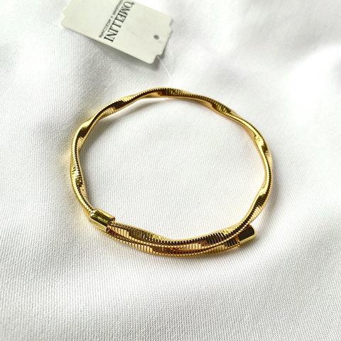 Браслет-обруч в форме пружинки (золотистый)