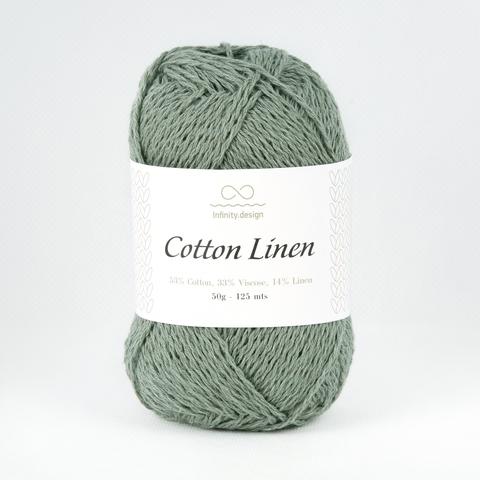 Пряжа Infinity Cotton Linen 8561 зеленый мох