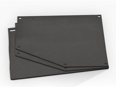 Комплект для облицовки резиновый защитный(шторки, крепеж) для САВ110 (двери проходные)