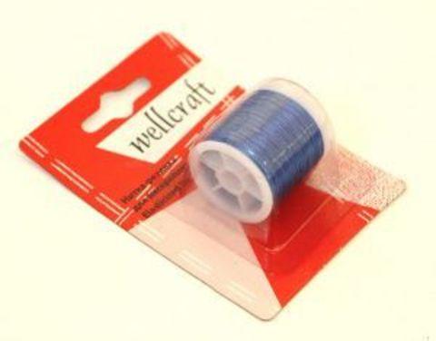 Нитка-резинка для бисероплетения Wellcraft, 10 м, цвет: синий