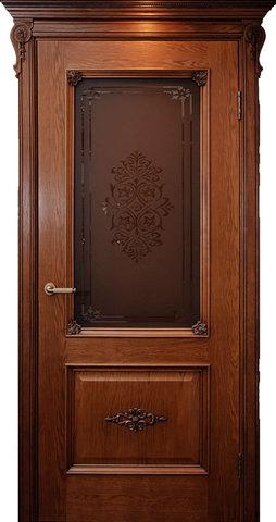 Дверь Гранд Модерн Мартель (темное дерево, остекленная, массив хвойных пород)