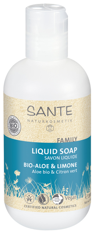 SANTE FAMILY Жидкое мыло с Био-Алоэ и Лимоном