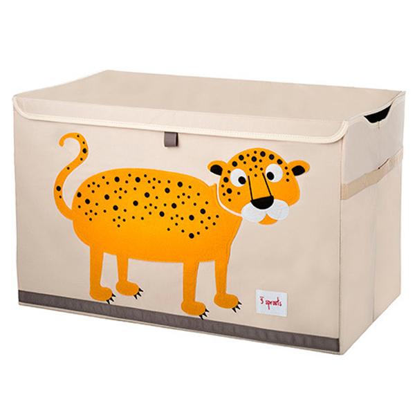 Сундук для хранения игрушек 3 Sprouts Леопард (оранжевый)