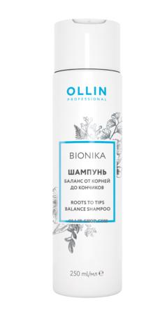 OLLIN bionika шампунь баланс от корней до кончиков 250мл/ roots to tips balance shampoo
