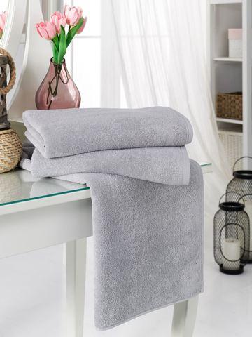 Полотенце PHILIPPUS  для гостиницы 50х90 (12шт.) 20/2 VIZYON цвет серый