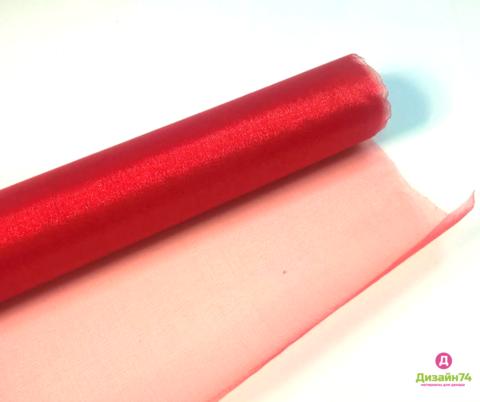 Органза флористическая, цвет Красный 0,7*10 ярд (1032)