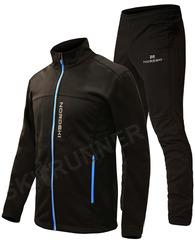 Утеплённый лыжный костюм Nordski Active Base Black 2020 мужской