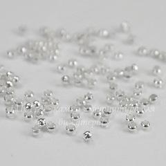 Кримпы - зажимные бусины 2 мм (цвет - серебро) 2 гр (примерно 175 штук)