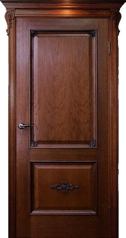 Дверь Гранд Модерн Мартель (темное дерево, глухая, массив хвойных пород)