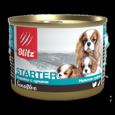 Blitz Sensitive Starter Консервы для щенков, беременных и кормящих сук, суфле (Банка)