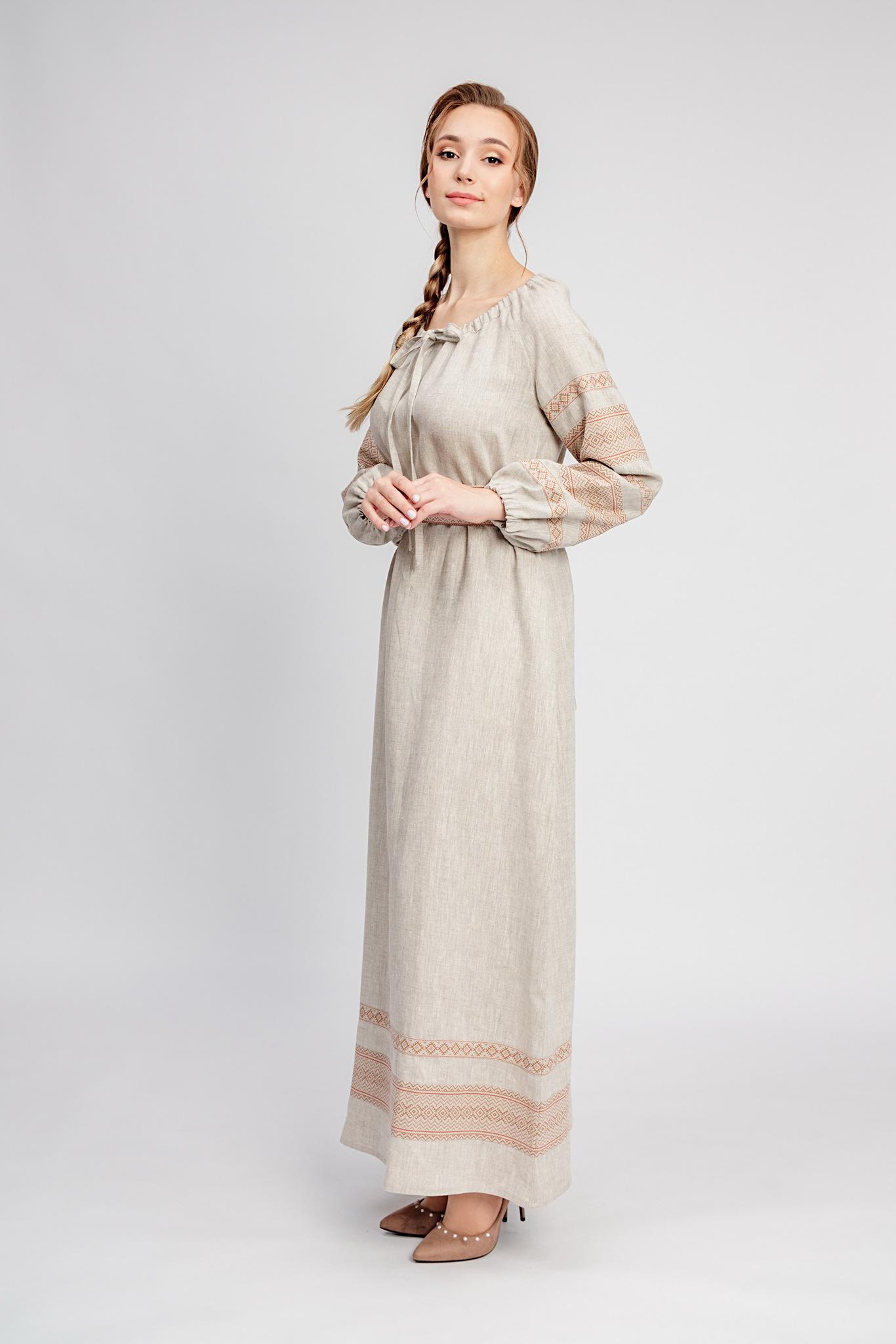Славянское платье с поясом