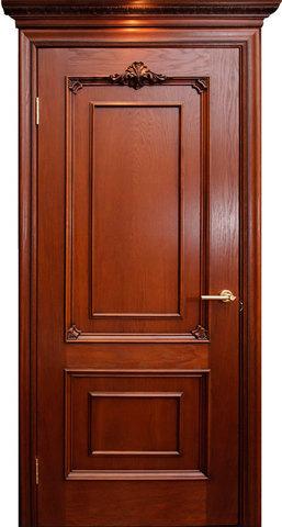 Дверь Гранд Модерн Бордо (красное дерево, глухая, массив хвойных пород)