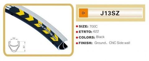 Обод 700C, v-brake, 18,7 мм, 36, черный