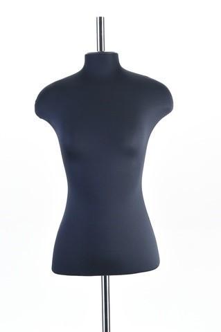 Манекен женский из стеклопастика 52 размер ОСТ (черный)