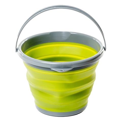 Tramp ведро складное силиконовое 10 л (оливковый)