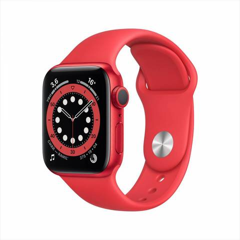 Apple Watch Series 6 GPS 44mm Aluminum Case with Sport Band (PRODUCT) RED