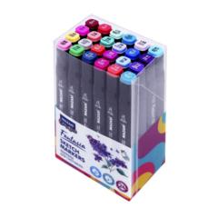 Mazari Fantasia набор маркеров для скетчинга 24 шт двусторонние спиртовые пуля/долото 3.0-6.2 мм (цветочные)
