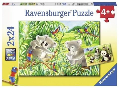 Puzzle Sweet Koalas and Pandas2  2x24 pcs